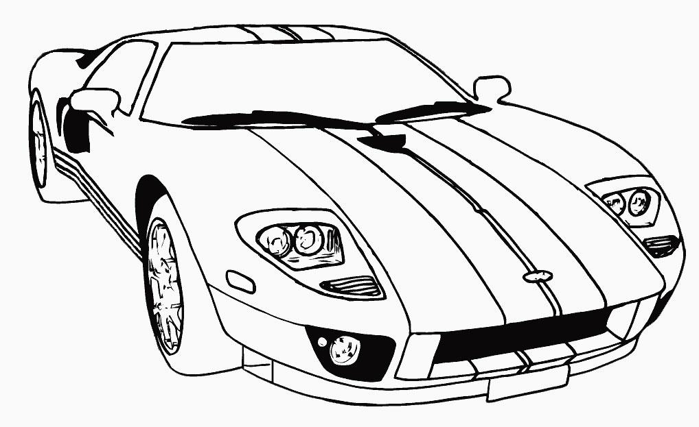 Машинки гоночные раскраски для детей